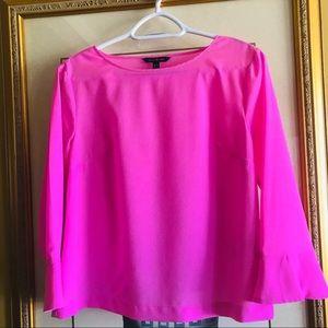🌺Banana Republic Hot Pink Blouse